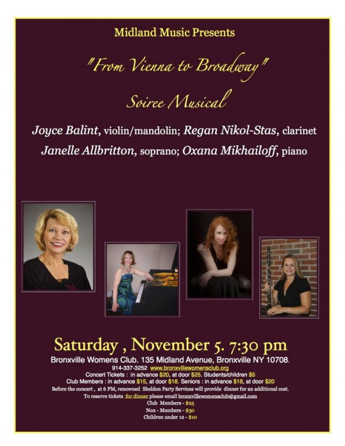 Playing 11/5/2016 at 7:30pm Grand Duo Concertant – Bronxville Women's Club