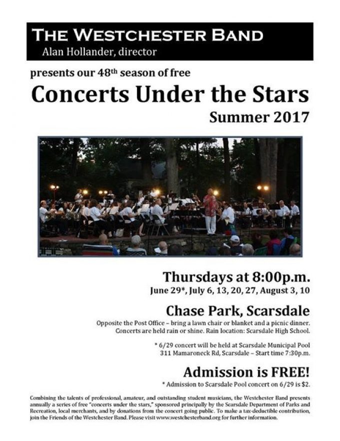 Playing with Westchester Band this summer